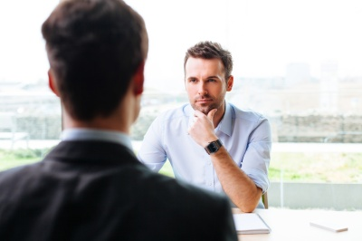 Young manager interviewing a potential worker